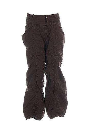 jean bourget pantalons fille de couleur marron