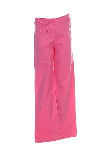 floriane pantalons fille de couleur rose