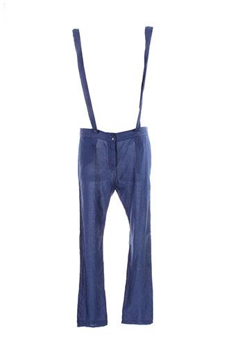american et vintage pantalons et decontractes femme de couleur bleu
