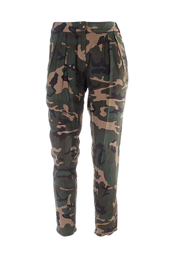 redsoul pantalons femme de couleur vert