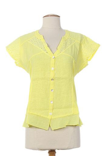 maloka chemises femme de couleur jaune