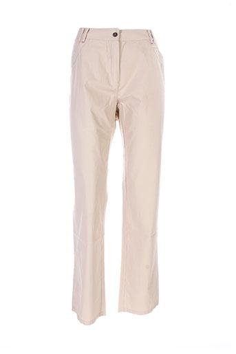 jac et jac pantalons et decontractes femme de couleur beige