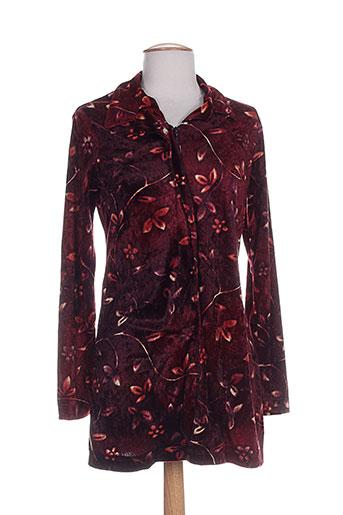 chattawak chemises fille de couleur rouge