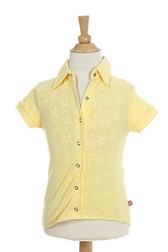 liberto chemises fille de couleur jaune