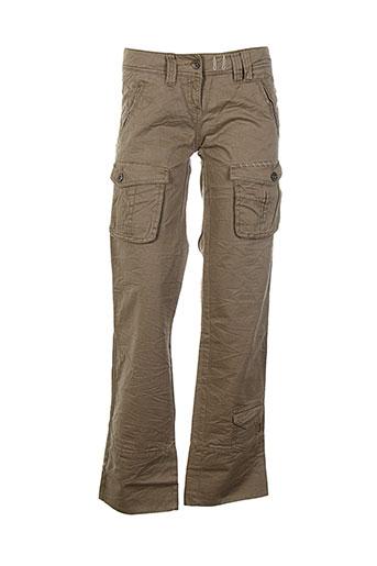 Pantalon casual marron MEXX pour fille