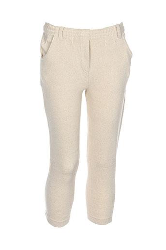 contre vents et marees pantalons fille de couleur beige
