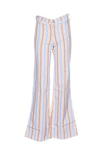 cimarron pantalons fille de couleur bleu