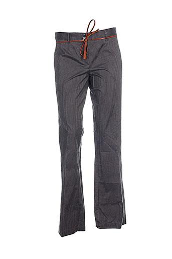 elo pantalons femme de couleur gris