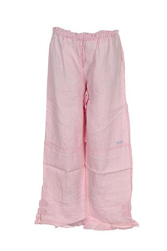 contre vents et marees pantalons fille de couleur rose