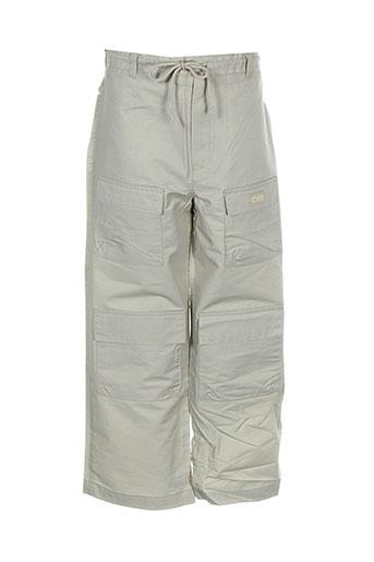 contre vents et marees pantalons garçon de couleur gris