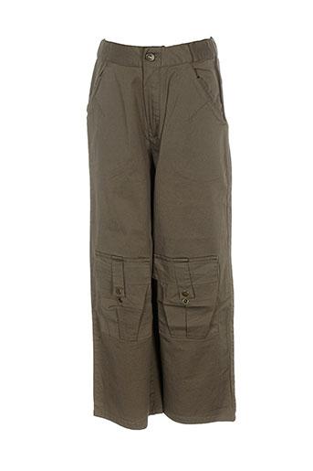 contre vents et marees pantalons fille de couleur marron