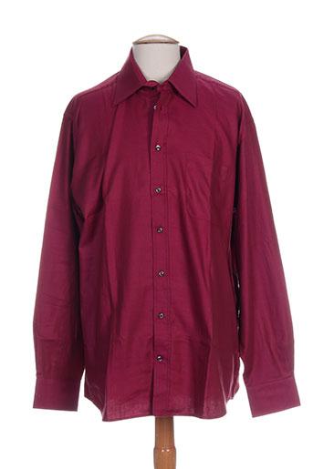 daniel hechter chemises homme de couleur rouge