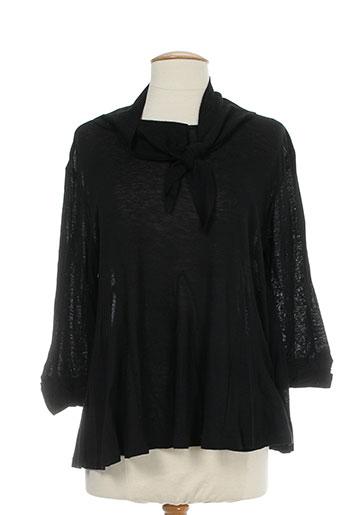 T-shirt manches longues noir 0039 ITALY pour femme