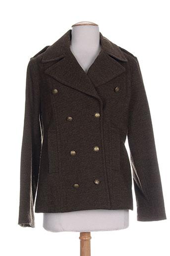 gant manteaux femme de couleur marron
