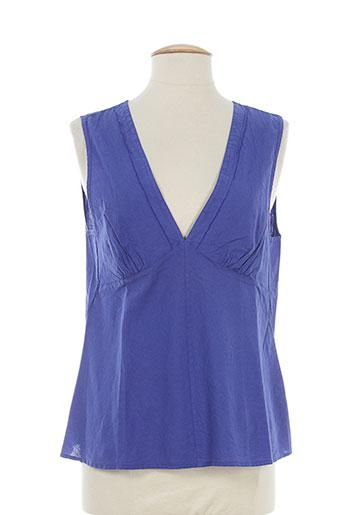 bensimon chemises femme de couleur bleu
