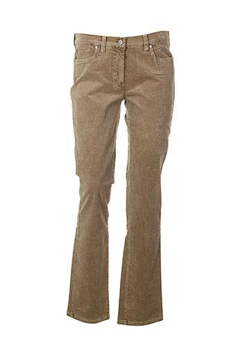 Pantalon casual beige DANIEL HECHTER pour femme