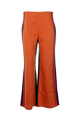 les soleils d'arles pantalons femme de couleur orange