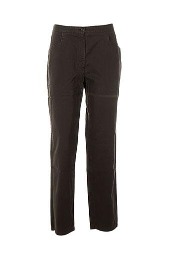 bensimon pantalons femme de couleur marron