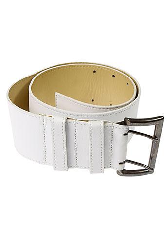 l et atelier et bower ceintures femme de couleur blanc