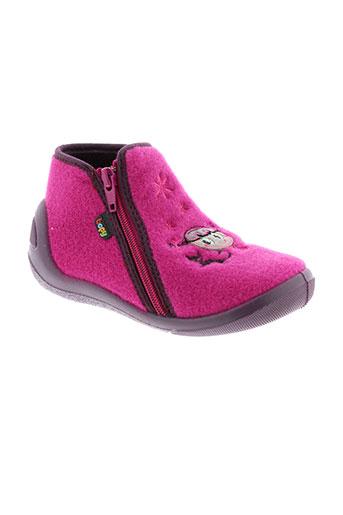 bopy pantoufle fille de couleur rose