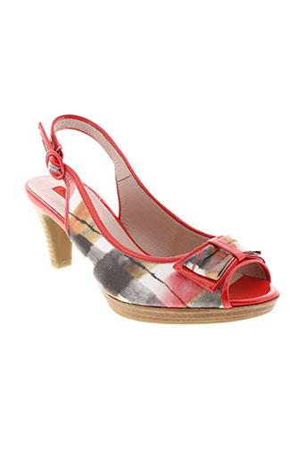fugitive et by et francesco et rossi sandales et nu et pieds femme de couleur rouge
