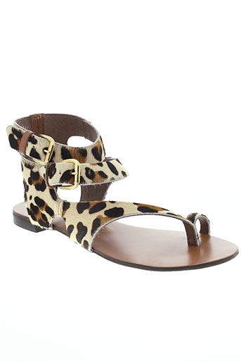 reqins sandales et nu et pieds femme de couleur beige