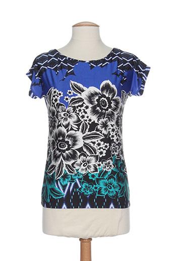 pier bé t et shirts et tops femme de couleur bleu