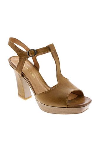 la et fee et maraboutee sandales et nu et pieds femme de couleur marron