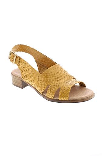 la et fee et maraboutee sandales et nu et pieds femme de couleur jaune