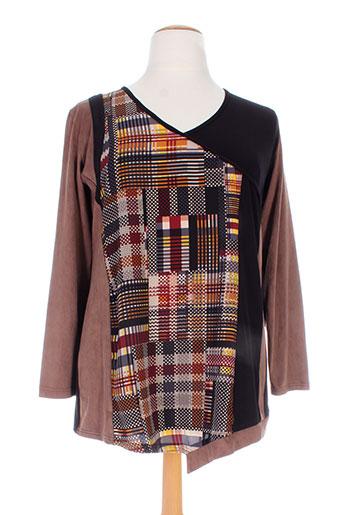 jean marc philippe chemises femme de couleur marron