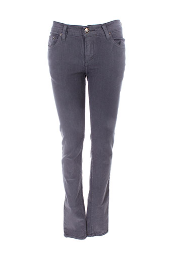 jon kafe pantalons femme de couleur gris