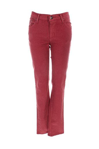 jon et kafe pantalons et decontractes femme de couleur rouge