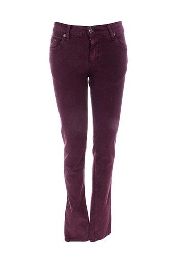 jon kafe pantalons femme de couleur violet