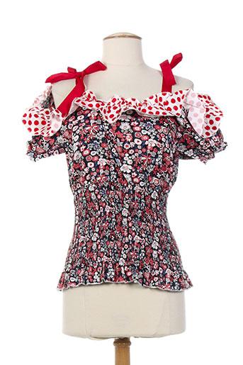 zoe la fee chemises femme de couleur rouge