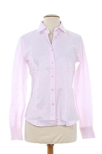 xoos chemises femme de couleur rose