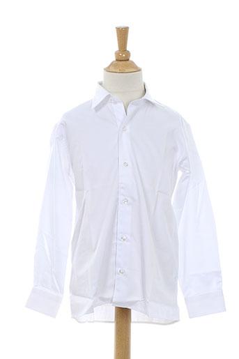 xoos chemises garçon de couleur blanc