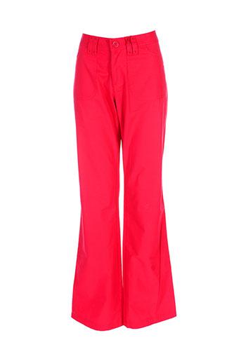 jackpot pantalons femme de couleur rouge