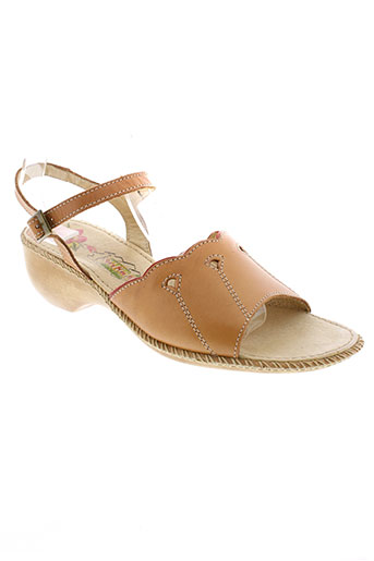 shera chaussures femme de couleur marron