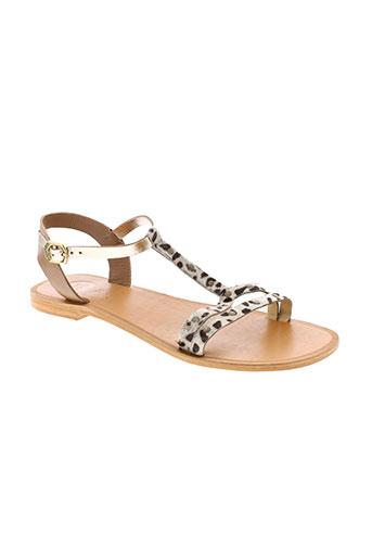 gioseppo sandales et nu et pieds femme de couleur marron