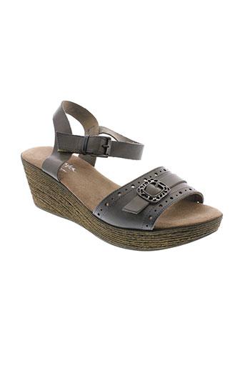 moova sandales et nu et pieds femme de couleur marron