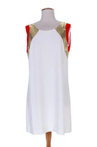 queenie robes femme de couleur blanc