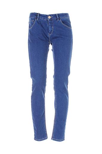 marella pantalons femme de couleur bleu