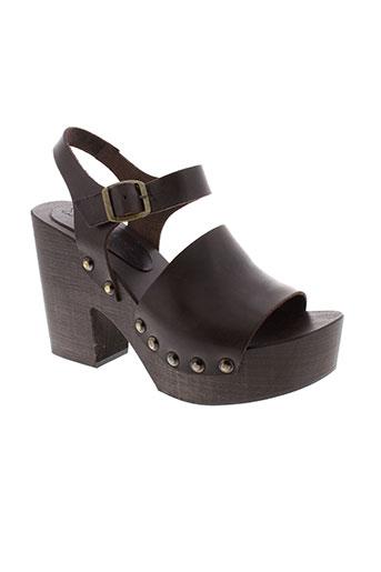 maxmara sandales et nu et pieds femme de couleur marron
