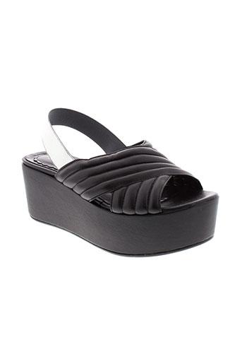 i blues chaussures femme de couleur noir