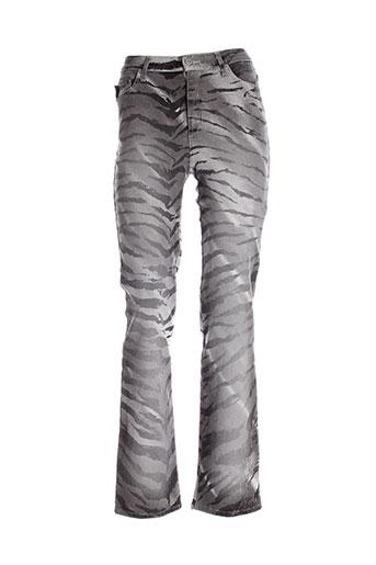 pianurastudio pantalons et decontractes femme de couleur gris