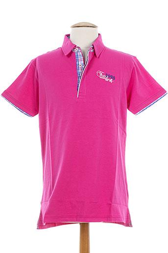 vestiaires et principaute et cannoise polos homme de couleur rose