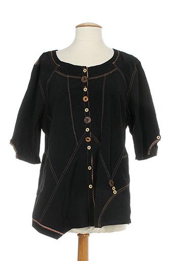 be the queen chemises femme de couleur noir