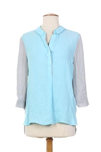 elie tahari t-shirts femme de couleur bleu