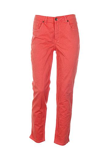le lis blanc pantalons femme de couleur rouge