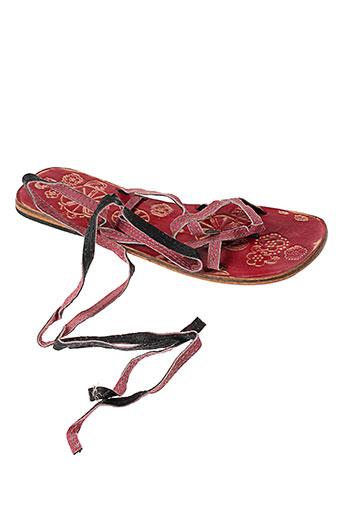 ba et sh sandales et nu et pieds femme de couleur rouge